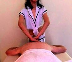 relaxation massage in modern clinic